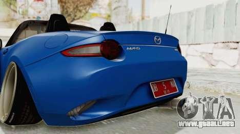 Mazda MX-5 Slammed para vista inferior GTA San Andreas