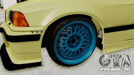 BMW M3 E36 Drift para GTA San Andreas vista hacia atrás