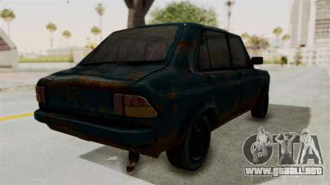 Zastava 1100 Rusty para GTA San Andreas vista posterior izquierda