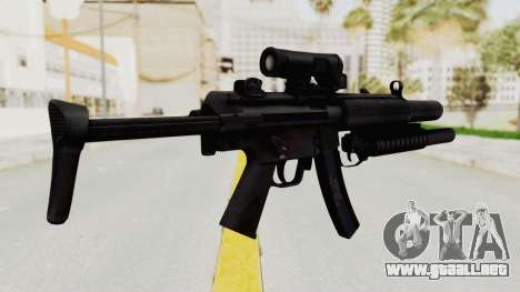MP5SD with Grenade Launcher para GTA San Andreas segunda pantalla