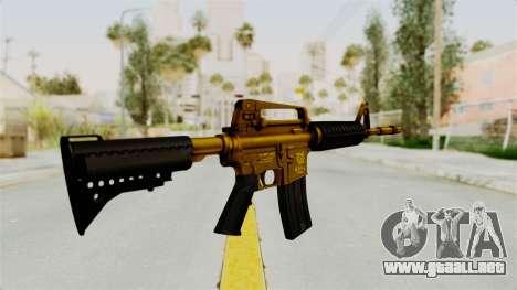 M4A1 Gold para GTA San Andreas segunda pantalla