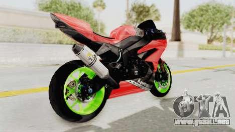 Kawasaki Ninja ZX-6R Boy from Anak Jalanan para la visión correcta GTA San Andreas