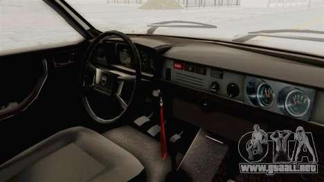 Dacia 1310 TX 1985 para visión interna GTA San Andreas