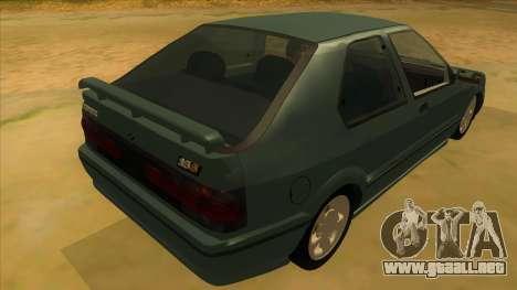 Renault 19 Coupe para la visión correcta GTA San Andreas