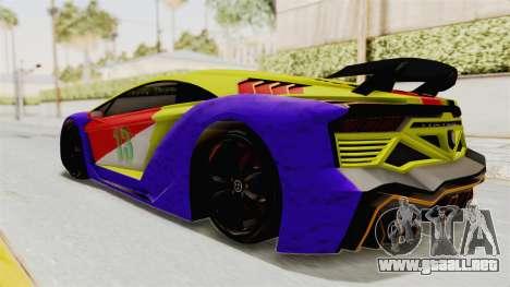 GTA 5 Pegassi Zentorno PJ para la vista superior GTA San Andreas