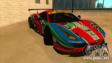 2016 Ferrari 488 GTE para GTA San Andreas vista hacia atrás