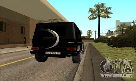 Mercedes G63 Biturbo para la visión correcta GTA San Andreas