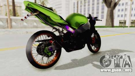 Kawasaki Ninja ZX-9R Drag para GTA San Andreas left