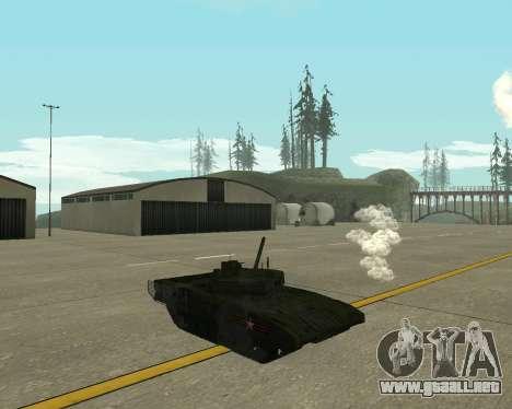 T-14 Armata para GTA San Andreas vista hacia atrás