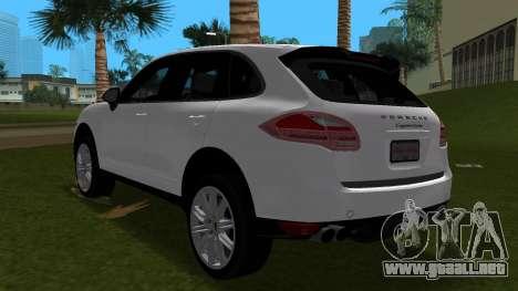 Porsche Cayenne 2012 para GTA Vice City vista posterior