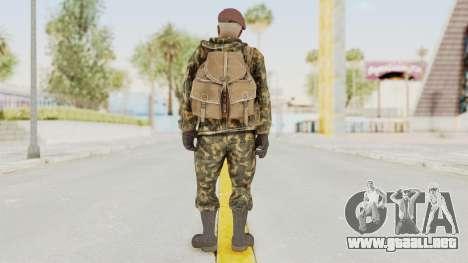 COD Black Ops Russian Spetznaz v7 para GTA San Andreas tercera pantalla
