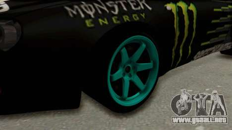 Toyota Celica GT Drift Monster Energy Falken para GTA San Andreas vista hacia atrás