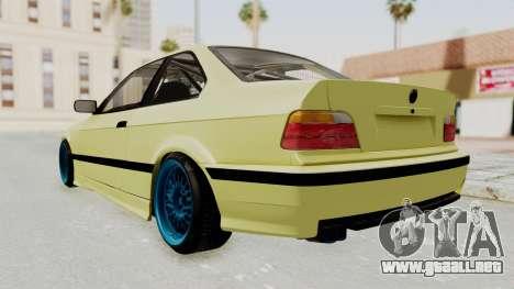 BMW M3 E36 Drift para GTA San Andreas vista posterior izquierda