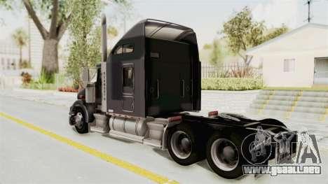 Kenworth T800 Centenario para GTA San Andreas left