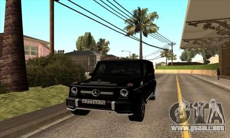Mercedes G63 Biturbo para GTA San Andreas left
