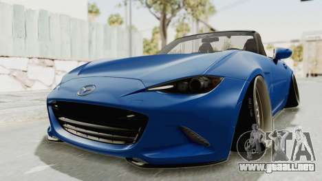 Mazda MX-5 Slammed para la visión correcta GTA San Andreas