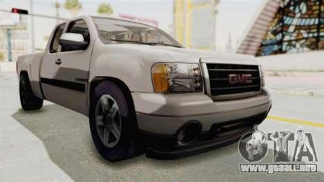 GMC Sierra 2010 para la visión correcta GTA San Andreas