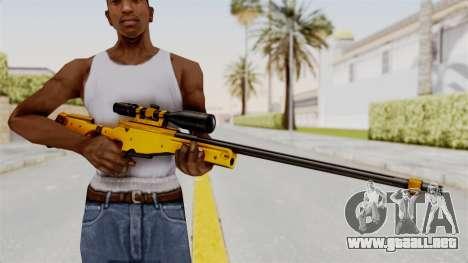 L96A1 Gold para GTA San Andreas tercera pantalla