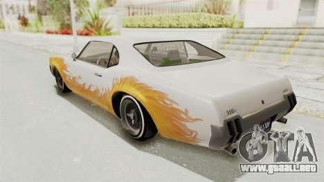 GTA 5 Declasse Sabre GT2 A IVF para las ruedas de GTA San Andreas