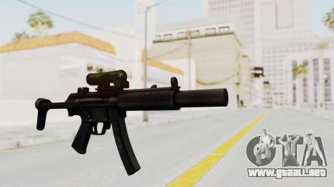 MP5SD para GTA San Andreas segunda pantalla