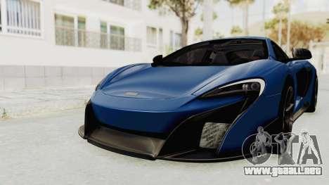 McLaren 675LT Coupe v1.0 para la visión correcta GTA San Andreas