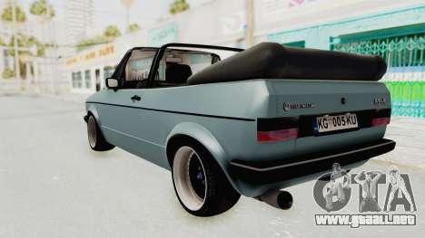 Volkswagen Golf 1 Cabrio VR6 para GTA San Andreas left