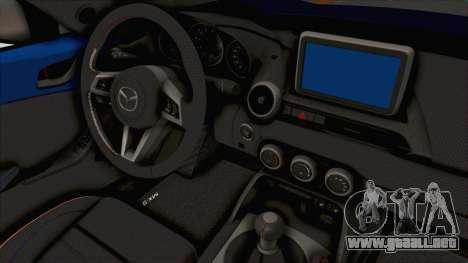 Mazda MX-5 Slammed para visión interna GTA San Andreas