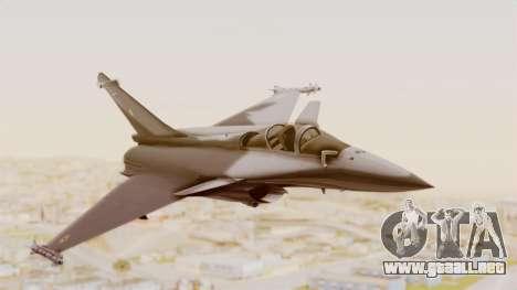 Dassault Rafale Indian Air Force para GTA San Andreas vista posterior izquierda