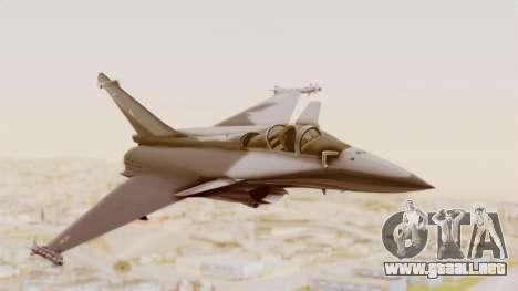 Dassault Rafale Indian Air Force para GTA San Andreas vista posterior izquierda