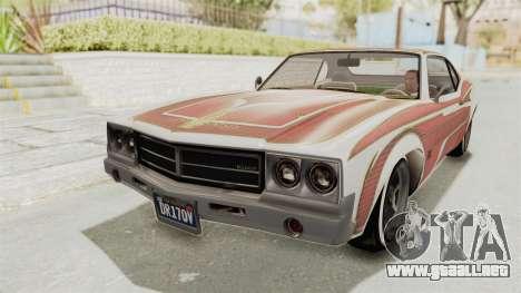 GTA 5 Declasse Sabre GT2 para vista inferior GTA San Andreas