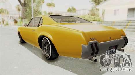 GTA 5 Declasse Sabre GT2 A IVF para GTA San Andreas left