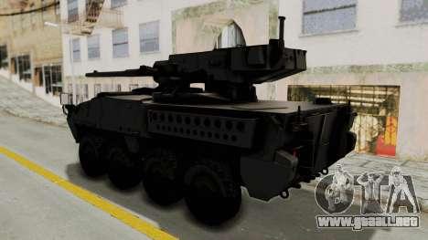 M1128 Mobile Gun System para la visión correcta GTA San Andreas