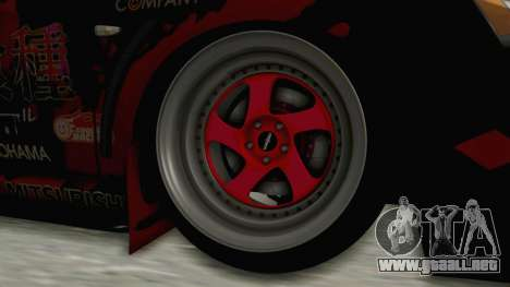 Mitsubishi Lancer Evolution X Ken Kaneki Itasha para GTA San Andreas vista hacia atrás