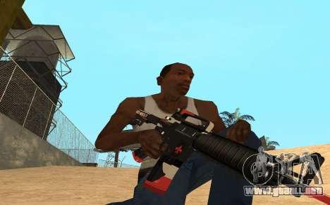M4 Cyrex para GTA San Andreas tercera pantalla