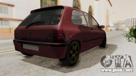 Renault Clio Williams para GTA San Andreas left