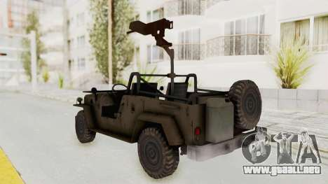 MGSV Jeep para GTA San Andreas left