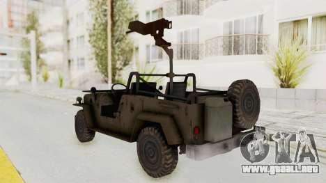 MGSV Jeep para GTA San Andreas left