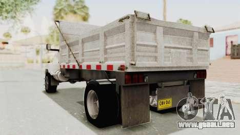 Chevrolet Kodiak Dumper Truck para GTA San Andreas left