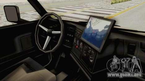 Chevrolet Kodiak Dumper Truck para GTA San Andreas vista hacia atrás