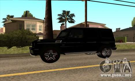 Mercedes G63 Biturbo para GTA San Andreas vista posterior izquierda