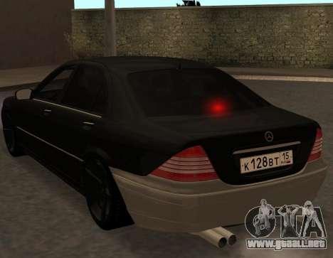Mercedes S600 W220 JoRick Revazov para la visión correcta GTA San Andreas