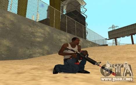 M4 Cyrex para GTA San Andreas octavo de pantalla