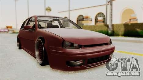 Volkswagen Golf Mk4 V5 Edited para la visión correcta GTA San Andreas