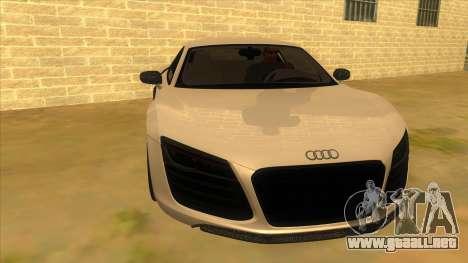 Audi R8 5.2 V10 Plus para GTA San Andreas vista hacia atrás