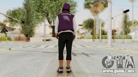 GTA 5 Ballas 3 para GTA San Andreas tercera pantalla