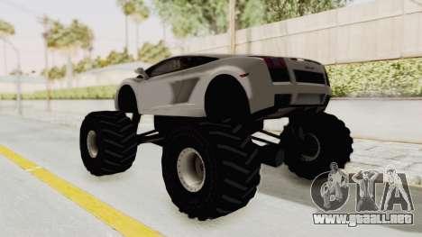 Lamborghini Gallardo 2005 Monster Truck para GTA San Andreas left