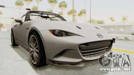 Mazda MX-5 Cup 2015 v2.0 para la visión correcta GTA San Andreas