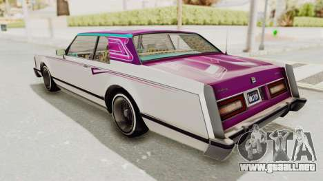 GTA 5 Dundreary Virgo Classic Custom v1 para el motor de GTA San Andreas