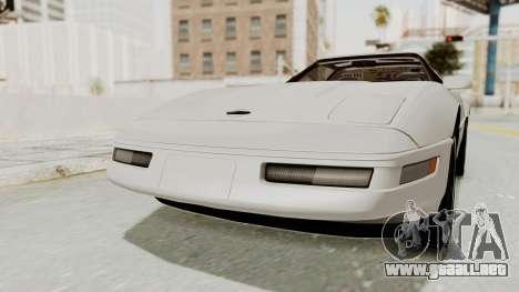Chevrolet Corvette C4 1996 para la visión correcta GTA San Andreas