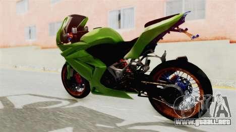 Kawasaki Ninja 250R Asian Style para GTA San Andreas vista posterior izquierda